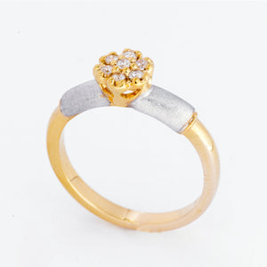 Dahlia Diamond Ring - Yellow Gold