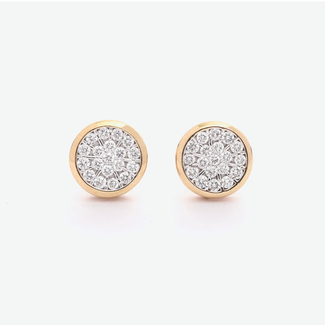 Queen Illusion Diamond Earrings - Yellow Gold