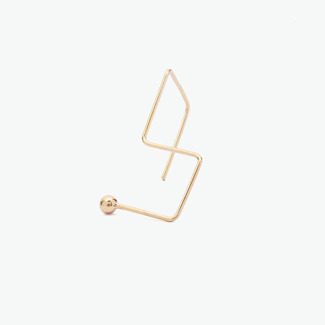 Chinami Yellow Gold  Earring