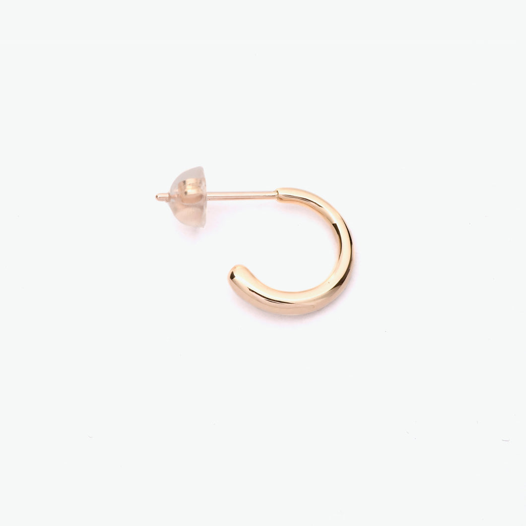 Hana Yellow Gold Half Hoop Earring