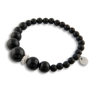 Addison Bracelet in Black Agate