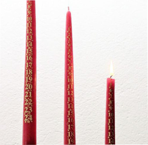 Advents Ljus med Datum - Advent Candle with Dates