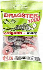 Dragster 1000 Jordgubb/Lakrits - Dragster 1000 Strawberry/Licroce