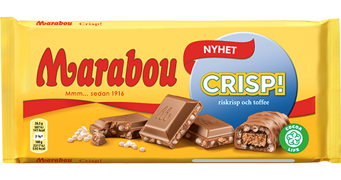 Chokladkaka Crisp! Riskrisp och Toffee - Chocolate Bar Crisp! Rice Crisp and Toffee
