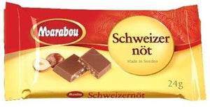 Chokladkaka Schweitzernöt LITEN - Chocolate Bar with Hazelnuts SMALL