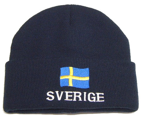 Mössa - Hat with Sverige and Swedish Flag