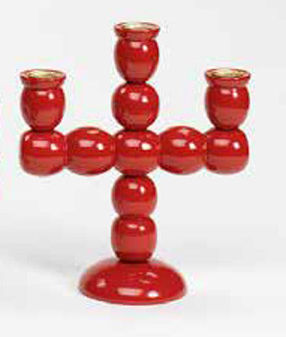 Röd Kulljusstake - Red Ball Candle Holder