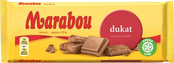 Chokladkaka Dukat - Chocolate Bar Nougat and Milk Chocolate