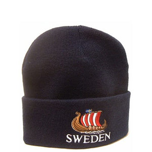 Mössa - Hat with 'Sweden' and Viking Ship