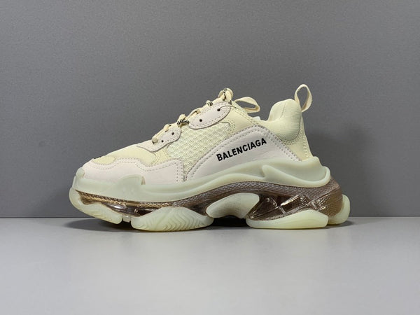 Kream Triple S Leather & Mesh Trainers