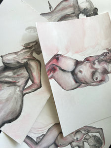 female figure study water color paintings nudesse candle art candles soy candles with figure study paintings