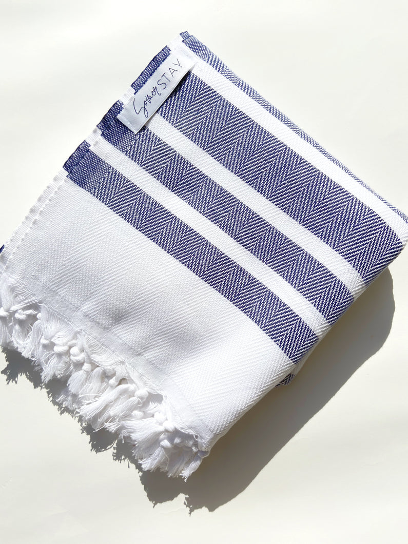 Somer Stay Blue White Herringbone Turkish Towel Herringbone Print turkish towel striped turkish bath towel turkish beach towel blue herringbone blue and white turkish towel peshtemal pestemal turkish bathroom towel white background zig zag turkish towel