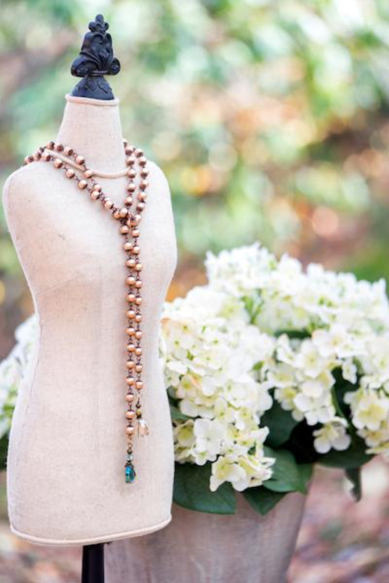 GOLD PEARL & CRYSTAL LARIAT