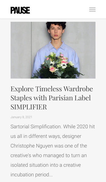 SIMPLIFIER ON PAUSA MAG