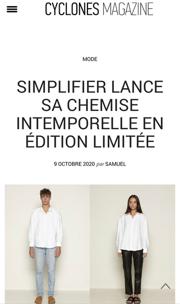 SIMPLIFIER ON CYCLONES MAGAZINE