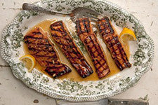 Salmon Glazed in Rosemary & Lemon