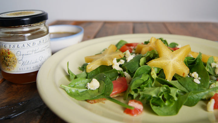 Star Fruit Salad with Honey Balsamic Dressing