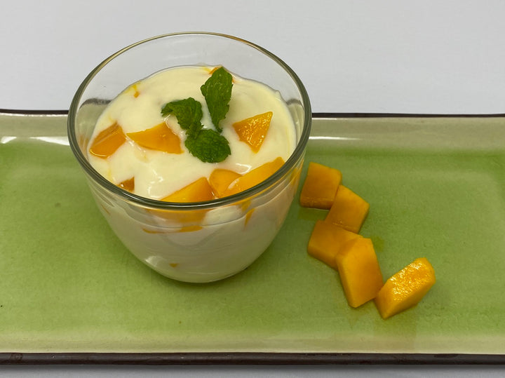 Honey Lime Mousse with Mangos!
