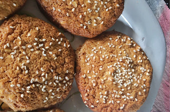 Tahini Honey & Almond Cookies