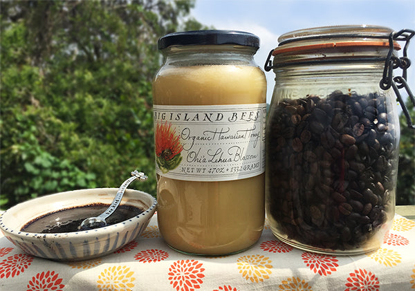 Lehua honey and coffee beans