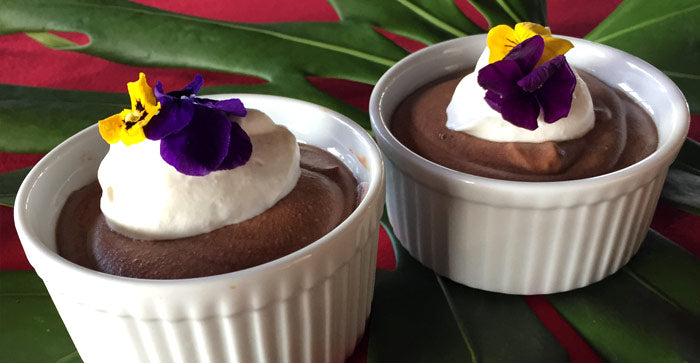 raw organic ohia lehua honey chocolate mousse recipe
