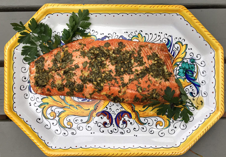baked salmon recipe with cilantro honey and lime