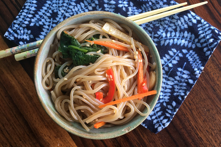 japchae noodles with honey soy sauce recipe