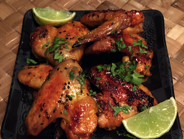 Honey Sriracha Chicken Wings