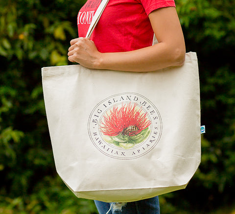 Big Island Bees Organic Cotton Shopping Tote