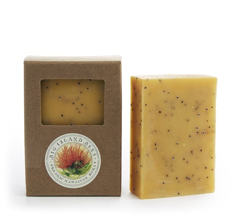 lemon poppy seed exfoliating soap