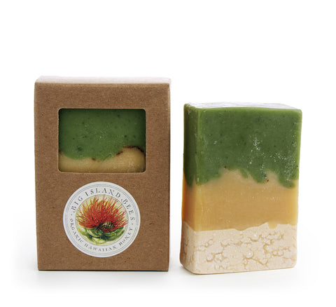 spearmint and spirulina soap bar made in Hawaii