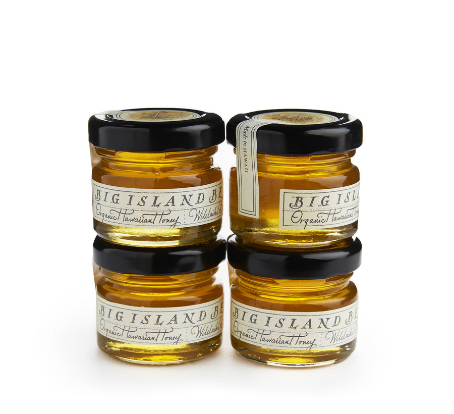 Hawaiian honey favors with decorative label