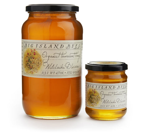 certified organic Hawaiian wilikaiki honey in glass jar