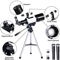 Professional Astronomical Telescope Monocular 150X Refractive Space Telescope Outdoor Travel Spotting Scope with Tripod