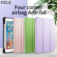 PZOZ For iPad 10.2 inch 2019 Pro Air 10.5 Case With Pencil Holder Smart PU Leather Soft Silicone Case For iPad 9.7 inch 2018 Bag