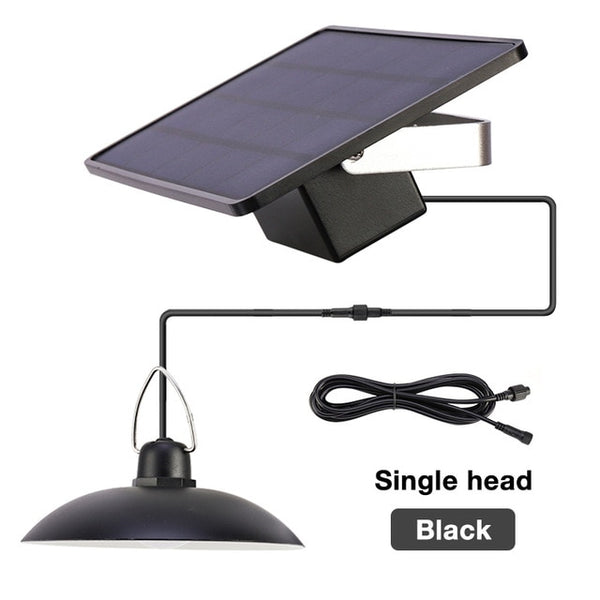 Warm White/White Double Head Solar Pendant Light Outdoor Indoor Solar Lamp With Line Lighting For Camping Home Garden Yard