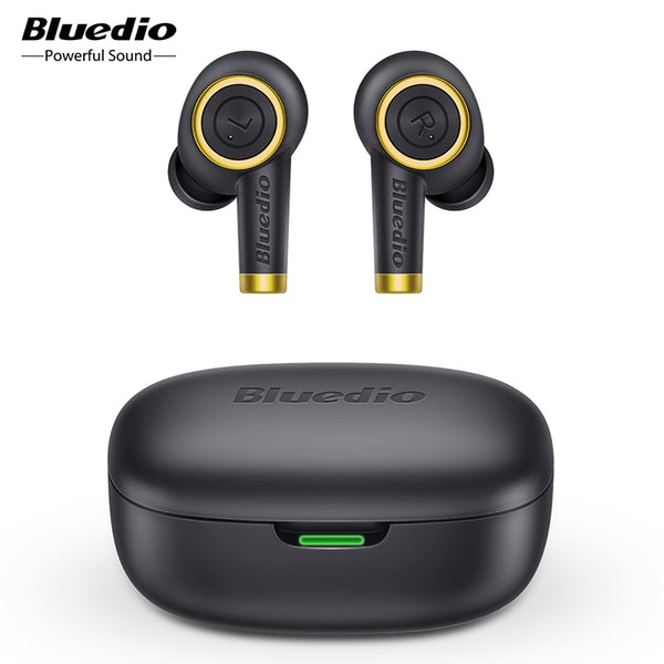 Bluedio Particle wireless earphone bluetooth 5.0 waterproof earbuds wireless sport tws headset with charging box