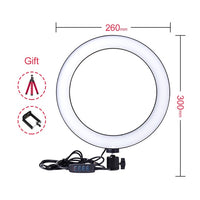 "Yizhestudio 6""/10"" Ring Light Dimmable LED Selfie Ring Lights for Live Studio Makeup Photography with Free Tripods Phone Clip"