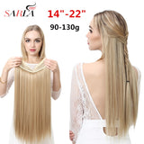 SARLA Halo Hair Extension No Clip Invisible Wire Synthetic Ombre Natural Fake Long Straight False Hair Piece Hairpiece For Women