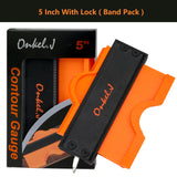 ONKEL.J Brand Lock Wider Contour Gauge Profile Tool Alloy Edge Shaping Wood Measure Ruler Laminate Tiles Meethulp Gauge