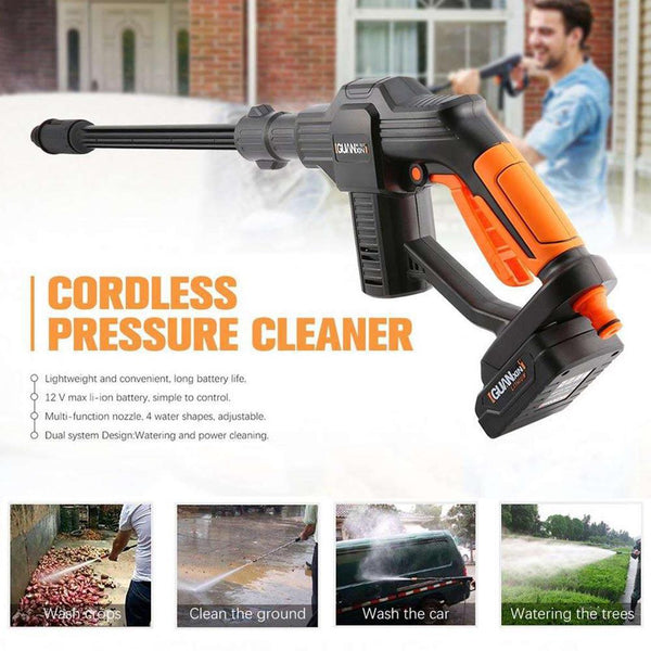 High Pressure Car Washer Rechargeable Accessories Lithium Battery Wireless Auto Spray Water Car Cleaning Gun Handheld Cleaner
