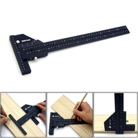 300mm Woodworking Scribe Metric inch Aluminum alloy T ruler Scribing Marking Gauge Measuring Tools Woodworking tools