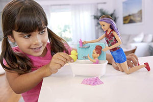 Barbie Skipper Babysitters Dolls and Bathtime Playset