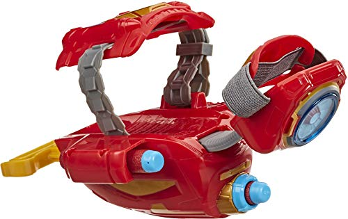MARVEL Nerf Power Moves Avengers Iron Man Repulsor Blast Gauntlet Nerf Dart-Launching Toy for Kids Roleplay, Toys for Kids Ages 5 and Up