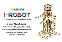 Load image into Gallery viewer, Funvention- for Little Scientist in Every Kid i-Robot Battery Operated DIY Self Balanced Walking Robotic Model Motor Powered STEM Learning Kit