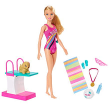 Load image into Gallery viewer, Barbie Dreamhouse Adventures Swim 'n Dive Swimmer Doll and Accessories