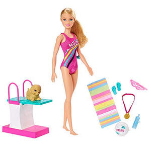 Barbie Dreamhouse Adventures Swim 'n Dive Swimmer Doll and Accessories