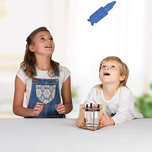 Smartivity Blast-off Space Rocket STEM STEAM Educational DIY Building Construction Activity Toy Game Kit, Easy Instructions, Experiment, Play, Learn Science Engineering Project 6+with Action Toy