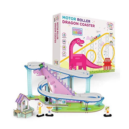 Smartivity Motor Roller Dragon Coaster stem, DIY, Educational, Learning, Building and Construction Toy for Girls