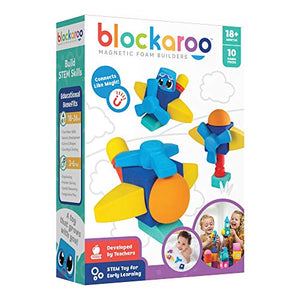 Blockaroo Magnetic Foam Building Blocks - STEM Construction Toys for Boys and Girls, Soft Foam Blocks Develop Early Learning Skills, The Ultimate Bath Toys for Toddlers & Kids - Helicopter Set